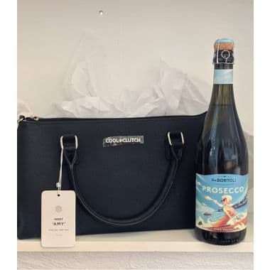 Cool Clutch and Prosecco Gift  - Black