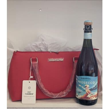 Cool Clutch and Prosecco Gift - Red